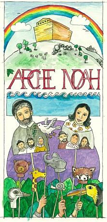 Arche Noah Plakat, Auftragsarbeit für ein Kindertheaterprojekt